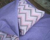 American Girl sleeping bag, pink chevron doll bedding for 18 inch doll