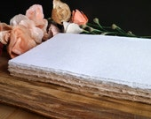 """Handmade Paper Sheets 8"""" X 11""""  (12 pieces) - Blank Handmade paper for Trifold Style Invitations - DIY invitations"""