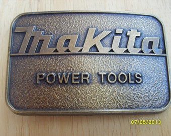 Makita Power Tools,  Belt Buckle, Vintage Belt Buckle, Tools Belt Buckle,