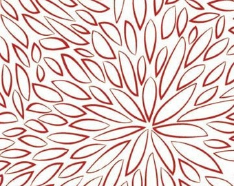Hello Dahlia from P & B Textiles -- Red and White Petals Quilt Fabric