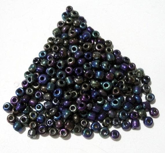 Seed Beads -  Metallic Rainbow - Glass Seed Beads 60g -  3mm approx - DIY Craft Project - Jewelry Beading