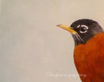 ROBIN print, 8 x 10 giclee bird print