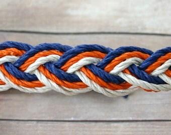 Surfer Sailor Style Hemp Bracelet Mixed Colors Blue Orange White