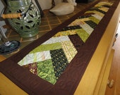 quilted braid skinny table runner
