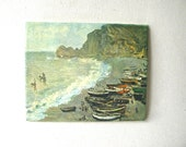 Vintage Sea Print, Monet, stretched canvas