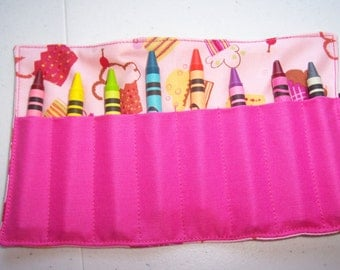 Cupcake crayon roll up 8 count
