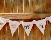 Cloth Bunting Banner- Flags banner- VALENTINE Be Mine