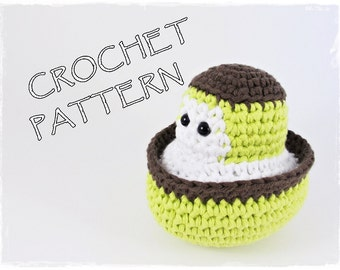 Amigurumi little boat crochet pattern English and Dutch pdf