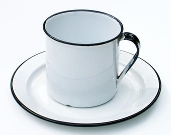 Enamel Cup and Plate Extra Large Enamelware