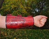 Archery Arm Guard Tooled Leather