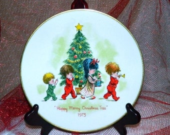 Gorham Moppets Christmas Plate - 1973