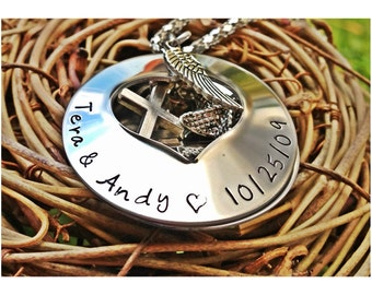 Personalized Hand Stamped Heart locket