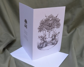 The Chestnut Nuptials - greetings card