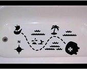 Private Listing for Ørjan & Sarah Non-skid decal for bathtub, shower Treasure Map