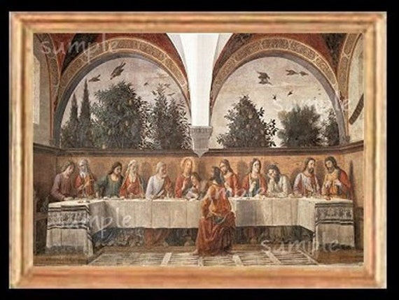 The Last Supper Miniature Dollhouse Art Picture 6059