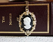 sale SALE sale CAMEO APPEARANCE vintage black and white cameo (gold)