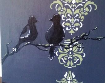 Moonlit Bird Pair