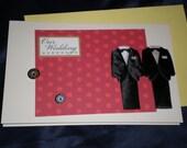 Love and Cherish Two Gay Men Wedding Card