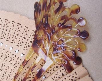 Vintage hair comb hair Victorian faux tortoiseshell Spanish comb hair accessory hair barrette hair slide hair jewelry hair ornament