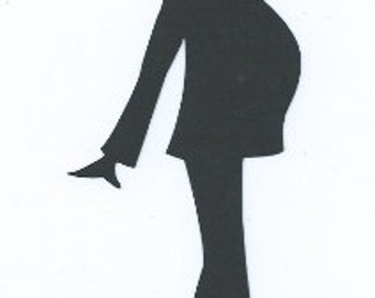 Pregnant lady 2 silhouette