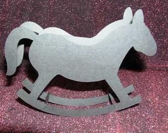 DIY 3D rocking horse box