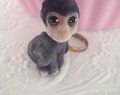 Little Fuzzy Baby Monkey Ring