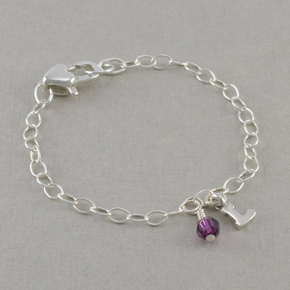 charm bracelet sterling silver child chain by