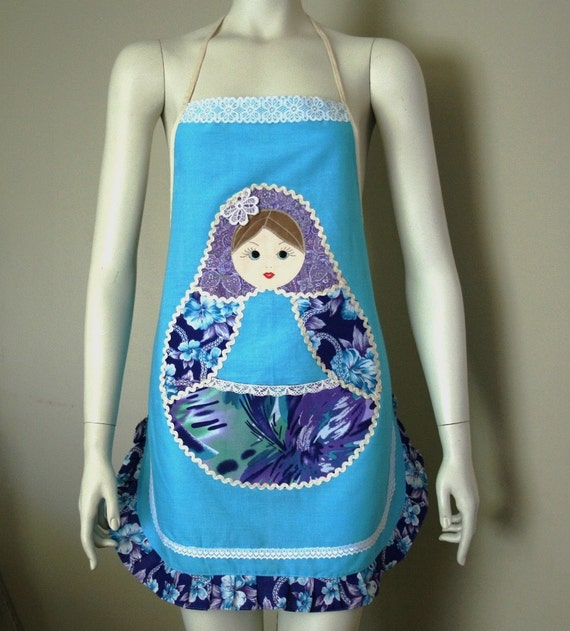 Apron with pocket inspired by Russian Matryoshka Doll 006M 2012