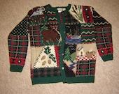 Vintage Cabela's Hand Knit Cabin Sweater