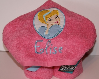 Cinderella Hooded Towel - Personalized