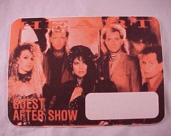 1985 Heart Otto Backstage Pass
