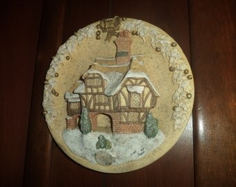 SALE- David Winter Cottages Miss Belle's Christmas plaque