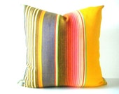Yellow Aztec Pillow cover, Mexican Pillows, Tribal Pillows, Aztec Cushion, Pillows, Serape Pillow, Southwestern pillows, 20 inch