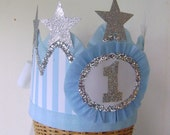 1st Birthday Crown, Hat - customize with any number- baby boy