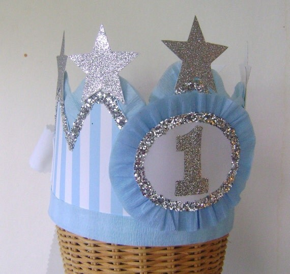 First Birthday Boy Boy Birthday Crown Boy Birthday: 1st Birthday Party Crown 1st Birthday Hat Boy Birthday Hat