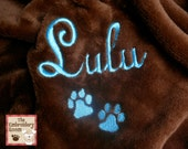 Personalized Pet Blanket-Paw Prints-Sofa Sized