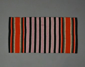 Hand Woven Striped Textile - Traditional Table Runner