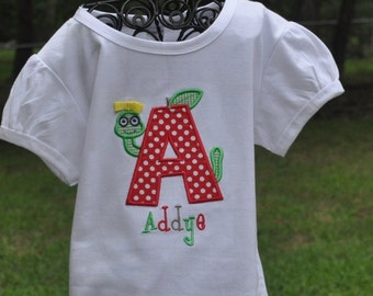 Personalized Monogrammed First Day of School Shirt .... Any Letter Can be Made