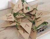 Happy Christmas Retro Deer Mini Bunting Kit