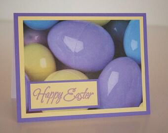 Easter Card-  Plastic Easter Eggs