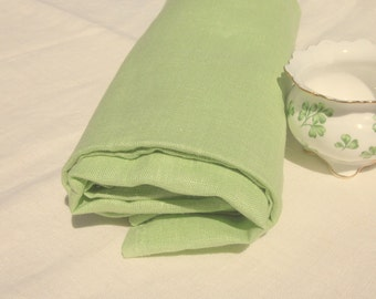 Pure LINEN Pistachio Green ecofriendly fabric sewing supplies home decor from Mygypsycottage on Etsy