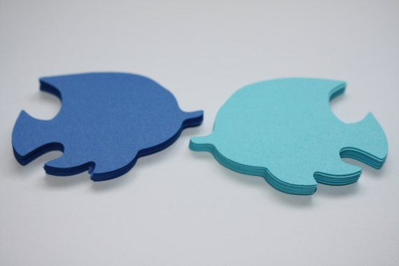 18 X Tropical Fish Die Cuts Blues From
