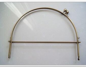 10.5 inch antique bronze half round purse frame metal purse frame  with handle
