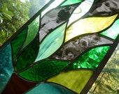 RESERVED for HEATHER - Stained Glass Family Tree - Four Photos