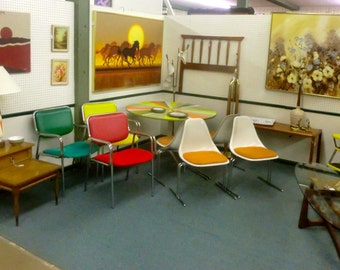 Orange Set of 4 Burke Chairs