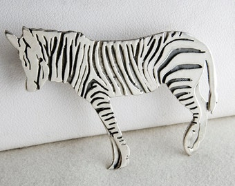 Whimsical Zebra Pin