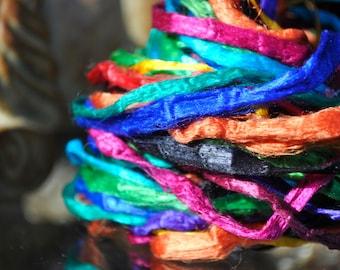 Mulberry Silk String, Silk Ribbon Cord, Silk Threads