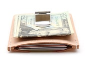 Mens Wallet, Money Clip Card Holder, Leather Moneyclip
