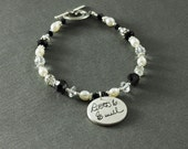 Your Loved Ones Actual Handwriting Memorial Charm Bracelet