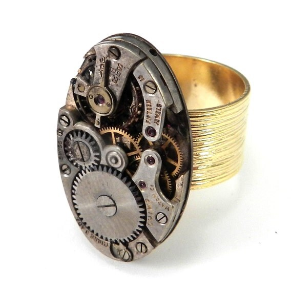 steunk jewelry vintage mechanical by